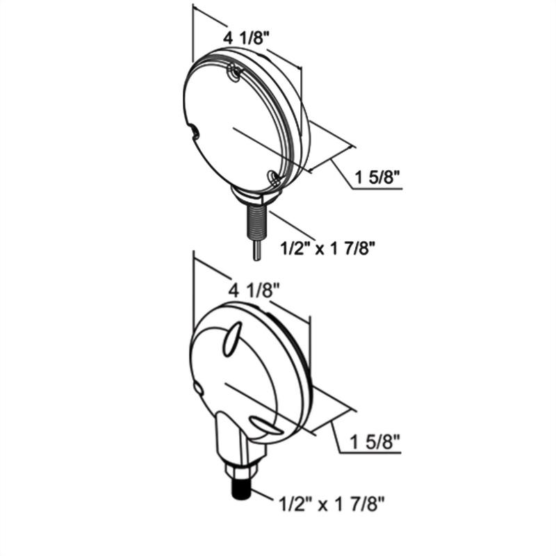 LED Single-Face Round Turn & Park Light - 24 Diodes