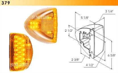Peterbilt LED Sealed Turn Signal Light - 31 Diodes