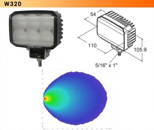 LED Work Light - 6 Diodes
