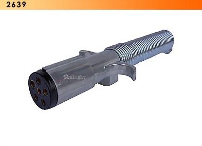 6 Pole Plug W/ Cable Guard