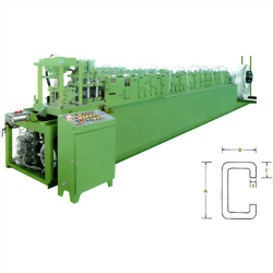 """""""C"""" CHANNEL STEEL - ROLL FORMING MACHINE WITH HYDRAULIC CUTTING DEVICE"""