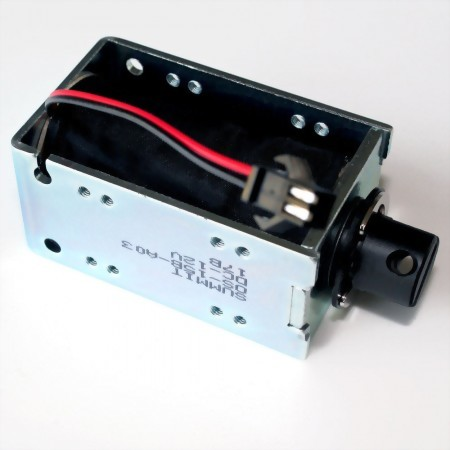 pull/push action frame solenoid, 10 mm stroke, 12VDC