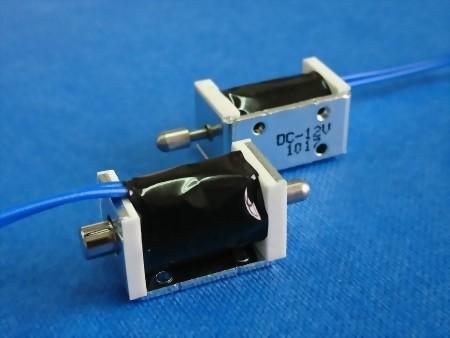 pullpush action frame solenoid, 3 mm stroke, 12VDC
