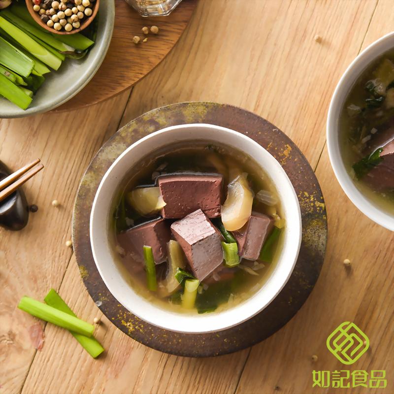 酸菜豬血湯