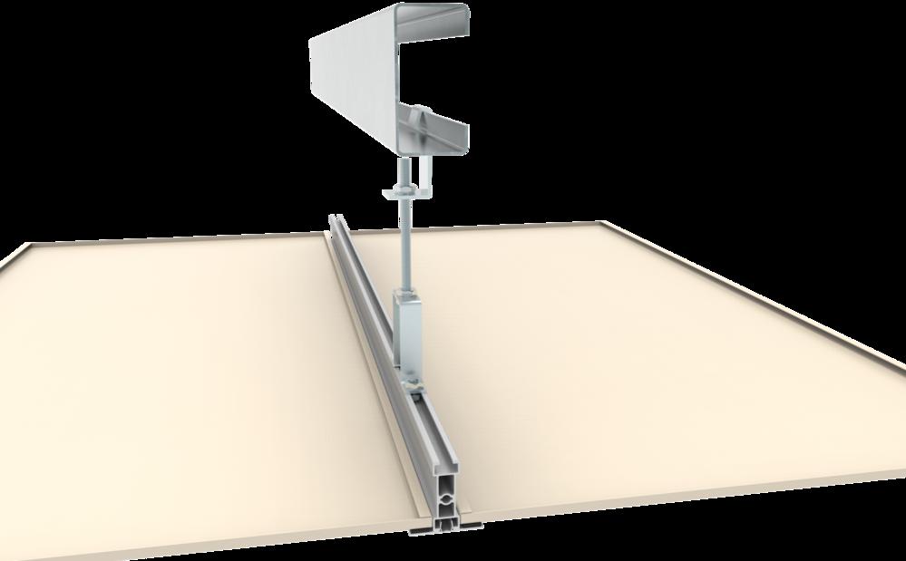 C型鋼與簡易吊架結合