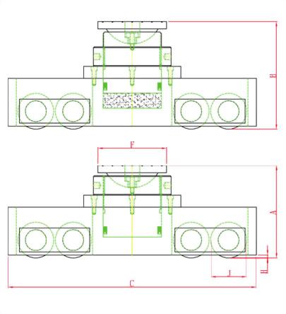 HSK系列-重型油压升降坦克轮