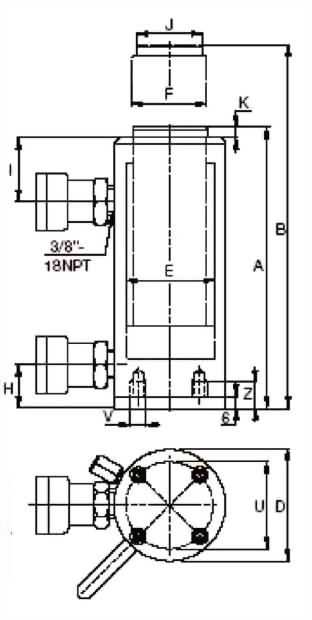 Aluminum, Double-Acting Cylinders
