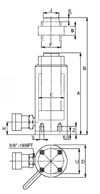 SAL-系列,铝制螺母锁定油缸