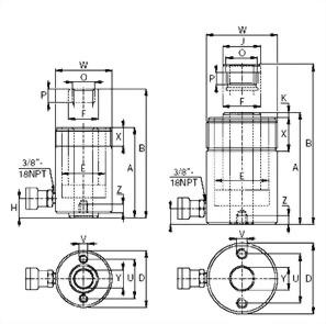 SHC-系列,单动中空柱塞液压油缸