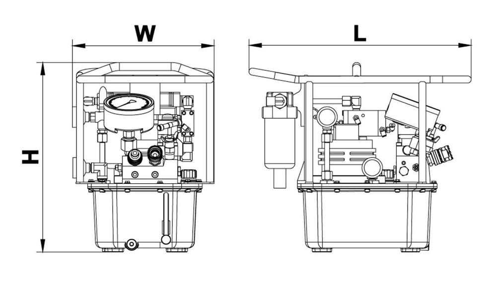 Pneumatic Torque Wrench Pump