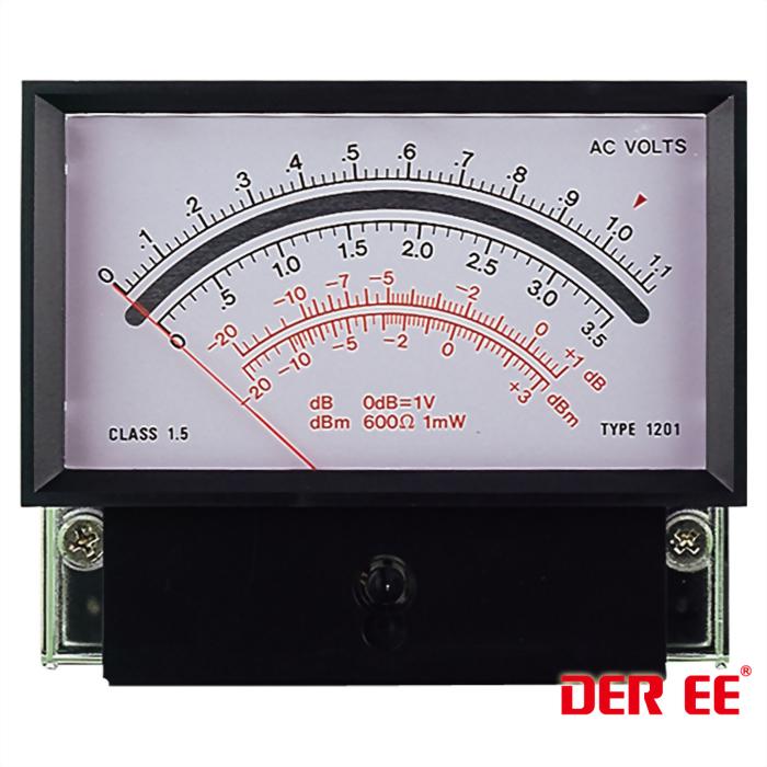 DE-1201F Analog panel meter