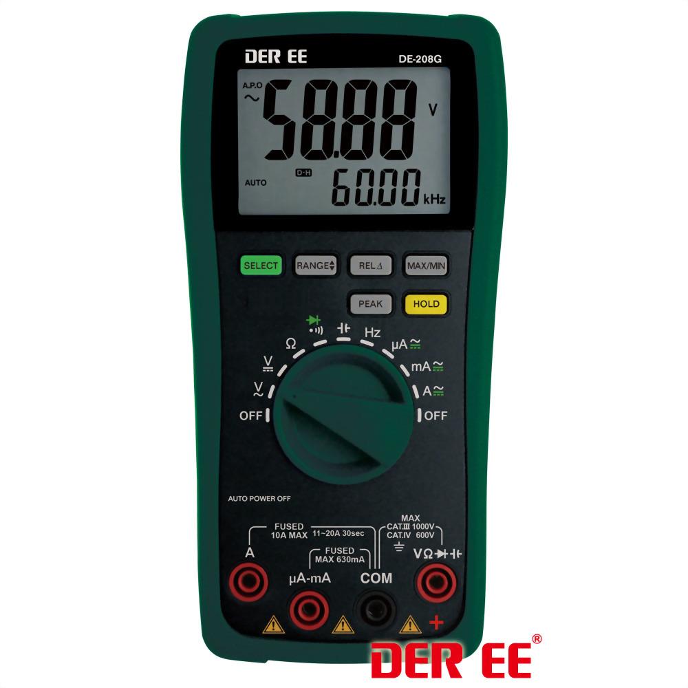 DE-208G Мультиметр цифровой