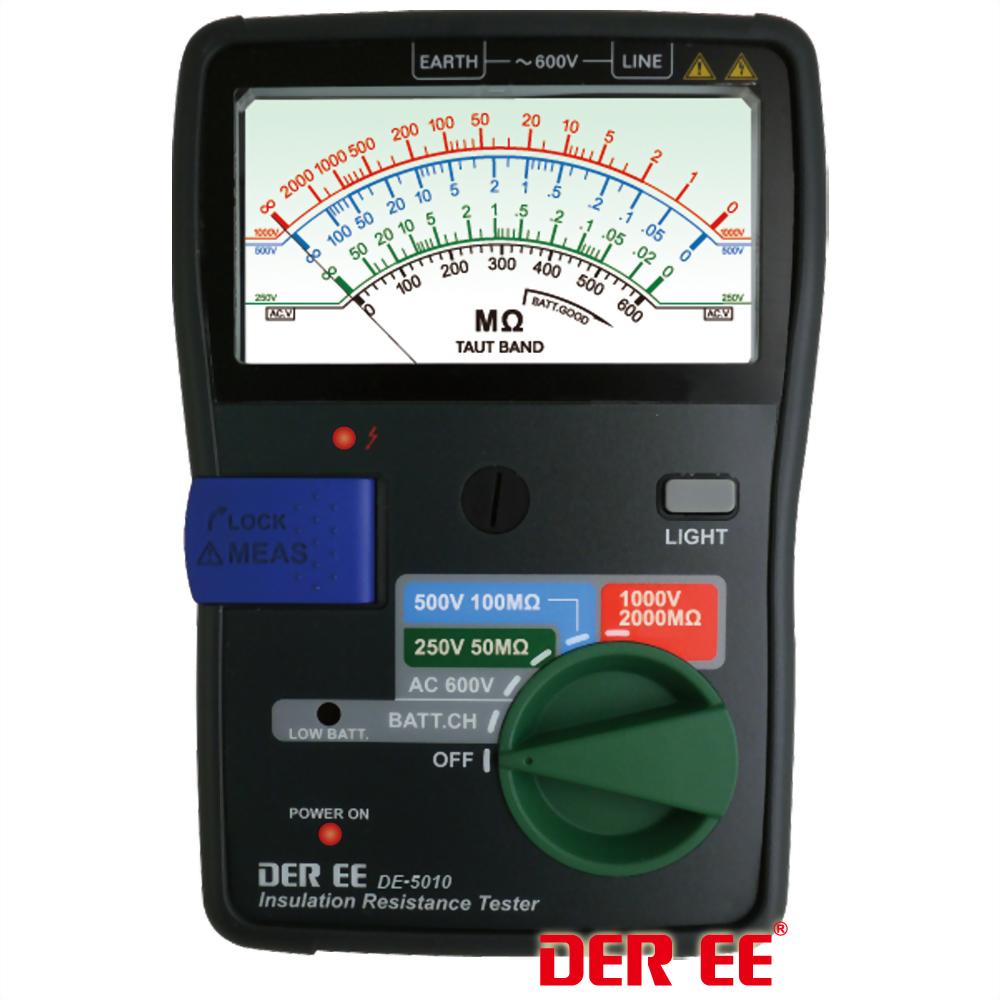 DE-5010 指針式絕緣電阻計