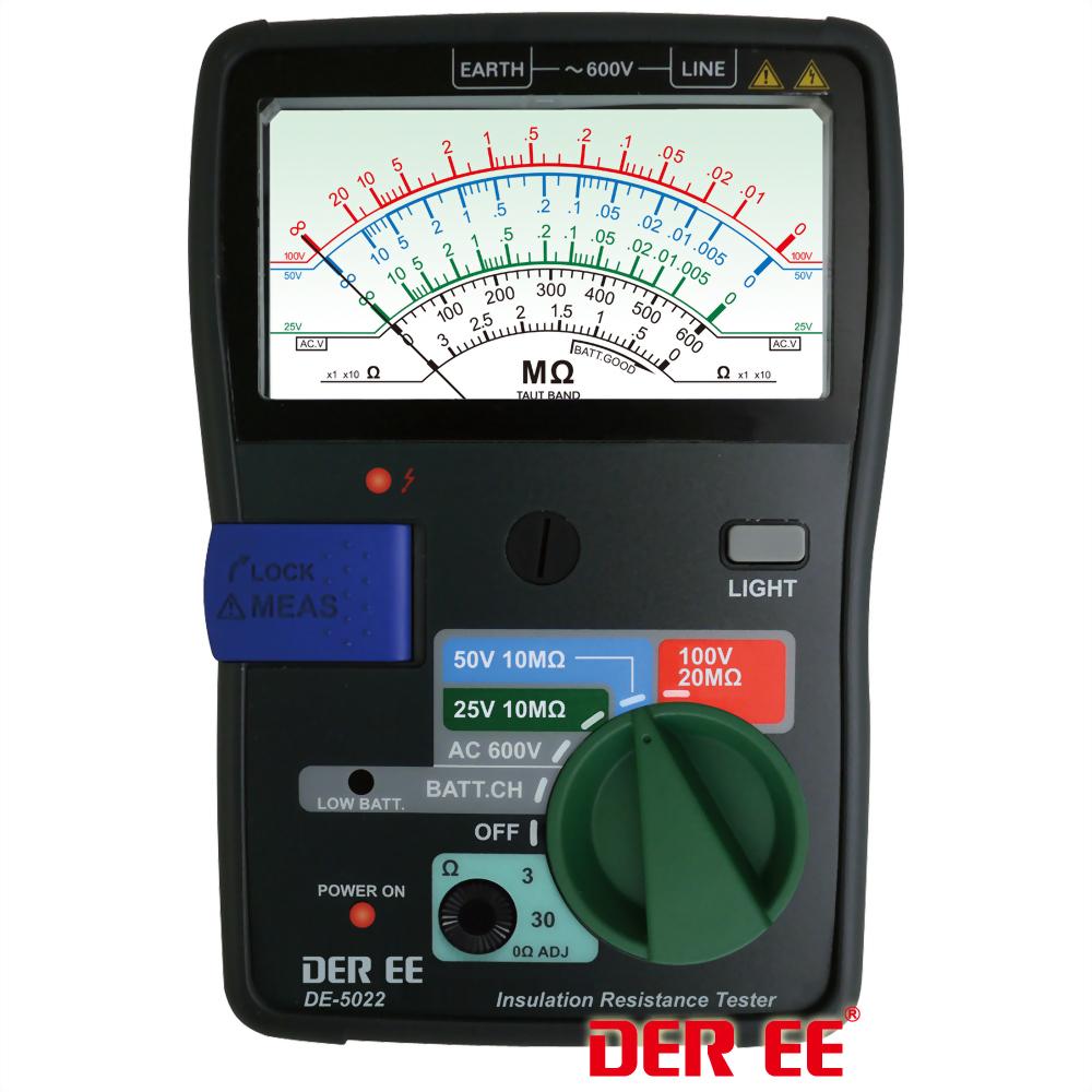 DE-5022 Medidor de resistenciade aislamiento