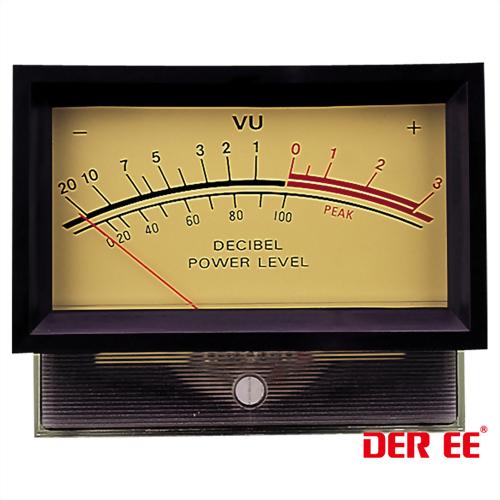 DE-860F VU panel meter