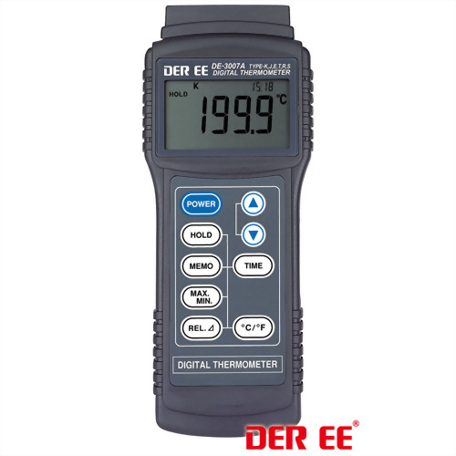 DE-3007A K,J,E,T,R,S-TYPE Digital Thermometer