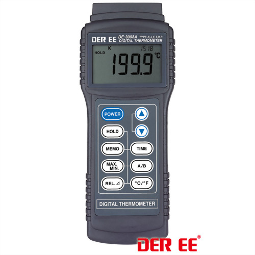 DE-3008A K,J,E,T,R,S-TYPE Digital Thermometer