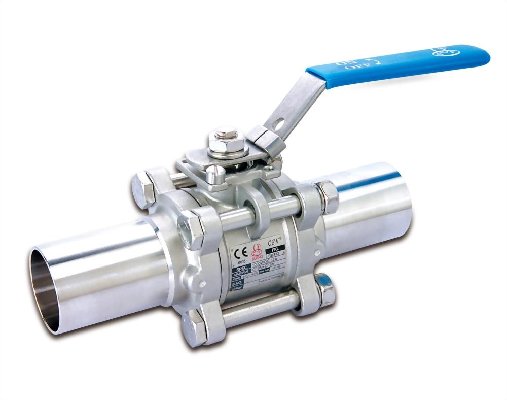 Clean valve butt-weld end
