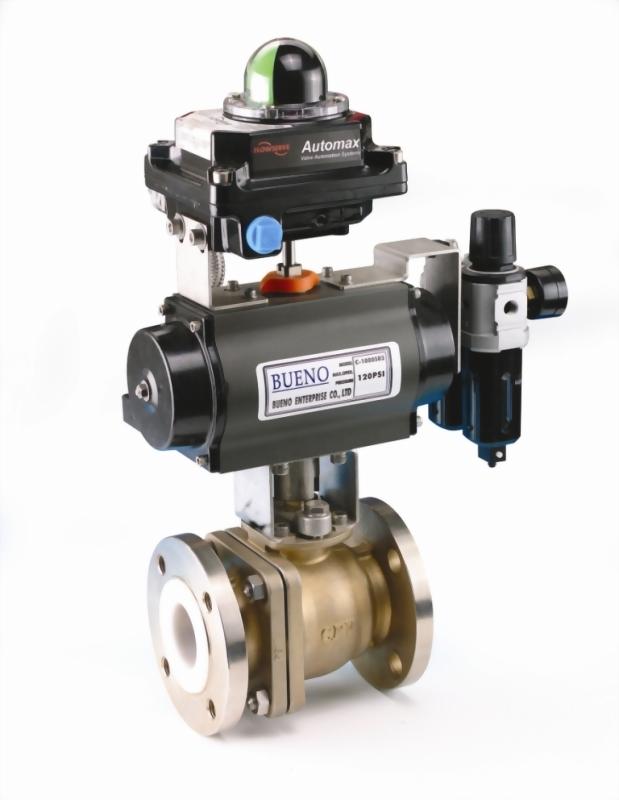 PFA lined control valve