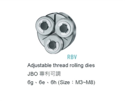 RBV : JBO專利可調式無屑板牙
