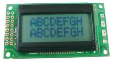 8x2 Character LCD, BC0802A