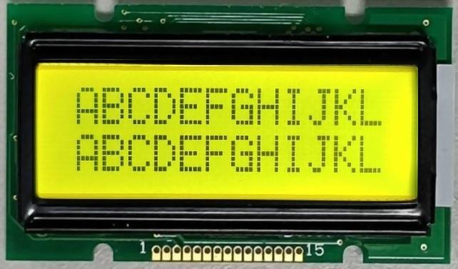12x2 Character LCD , BC1202B