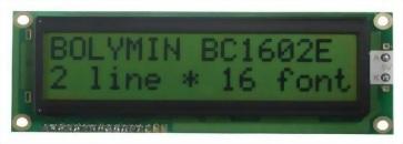 16x2 Character LCD, BC1602E