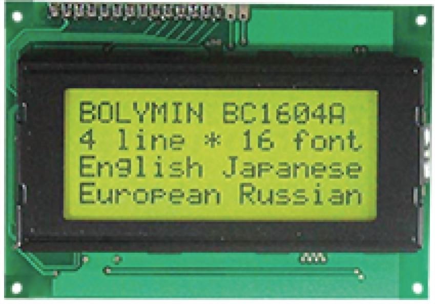 16x4 Character LCD, BC1604AR