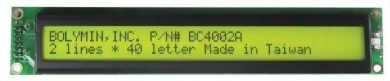 40x2 Character LCD display
