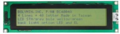 40x4 Character LCD, BC4004A