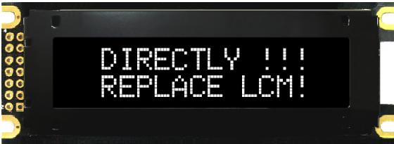 16x2 COB OLED Character Display, BL1602BM