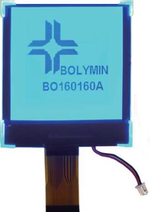 160x160 COG LCD Display Module, BO160160A