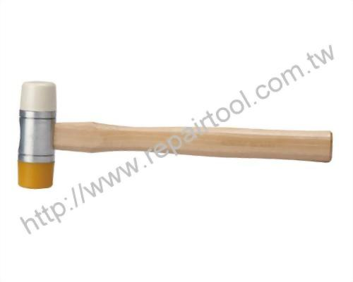 Double Faces Wood Handle Soft Hammer