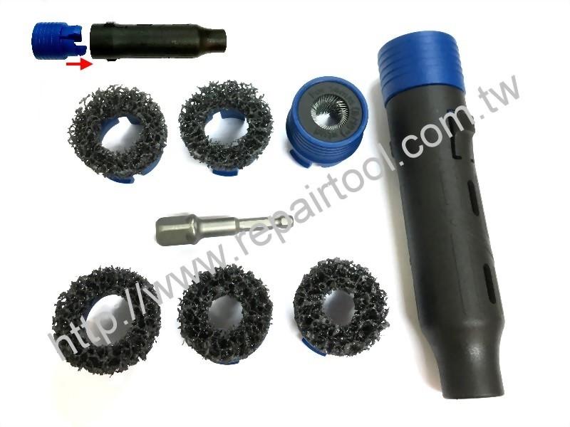 Stud cleaning & hub grinding tools