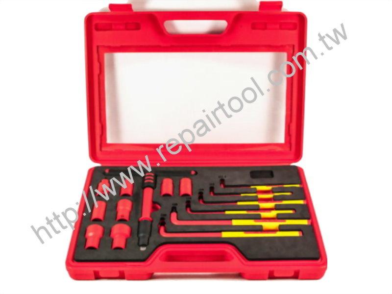 15PCS VDE Hex Key & Socket Ratchet Set