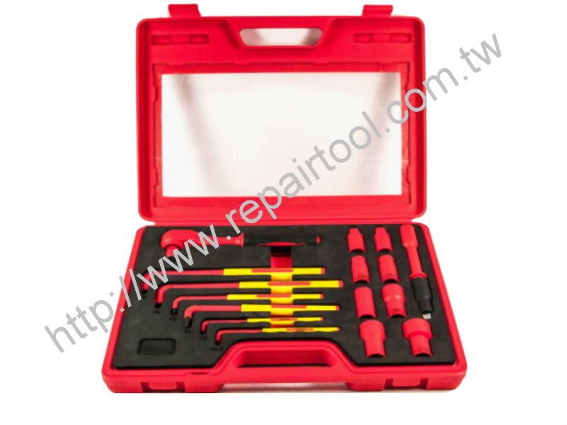 16PCS VDE Hex Key & Socket Ratchet Set