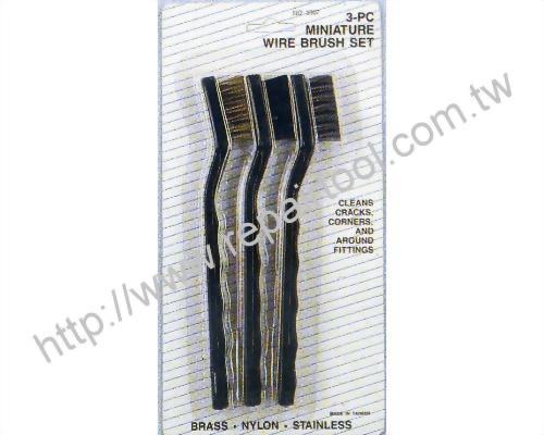 3PC Miniature Wire Brush Set