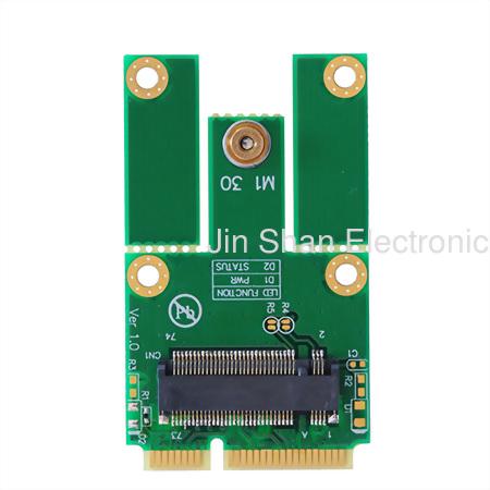 M.2(PCIe/USB) to mPCIe