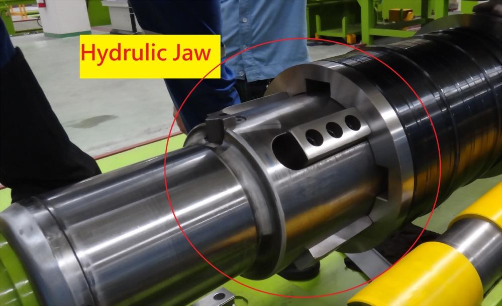 Línea de corte longitudinal de 4.0 mmt - Brida de cinturón y torreta para herramientas de corte longitudinal