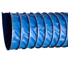 外夾式藍色帆布伸縮風管 (130 度)