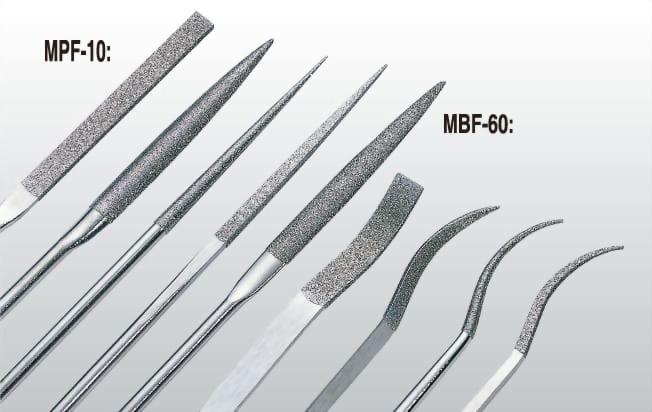 鑽石機械銼刀MPF-10、MBF-60