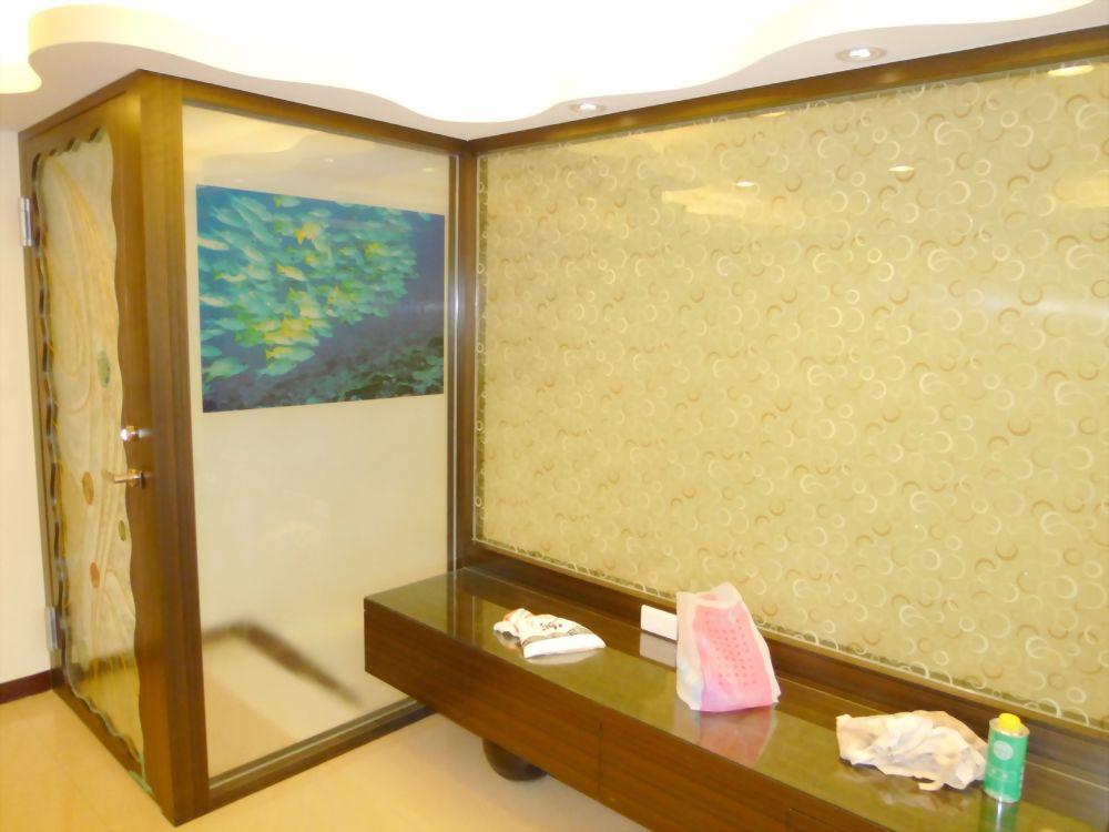 夾砂玻璃電視主牆