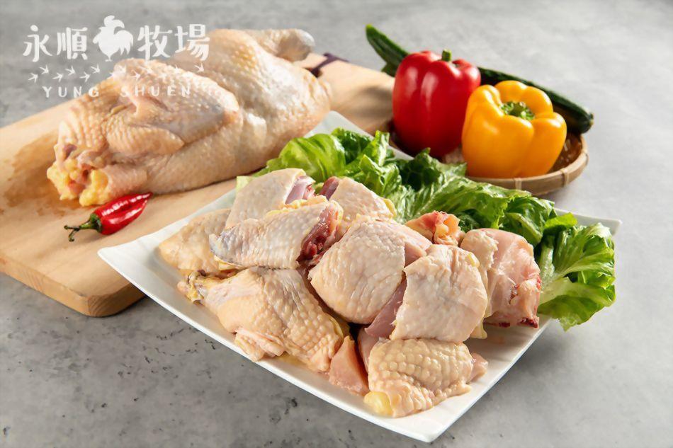 竹仿雞-半雞(母)一台斤150元(活稱),可免費剁切分裝
