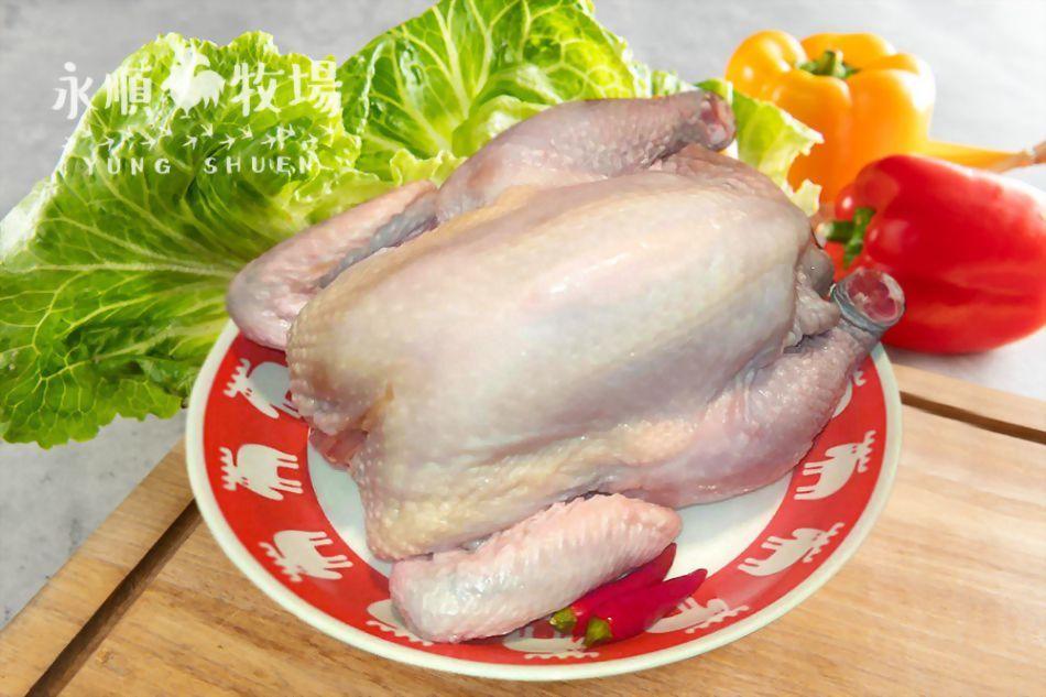 黑羽土雞-全雞(去頭去尾)~300元