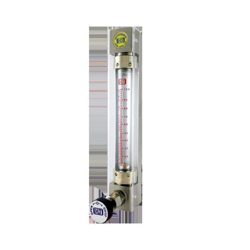 透明管面積式流量計-附針閥 螺牙接續 上出或背面出入