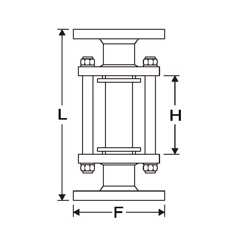 玻璃管視流器