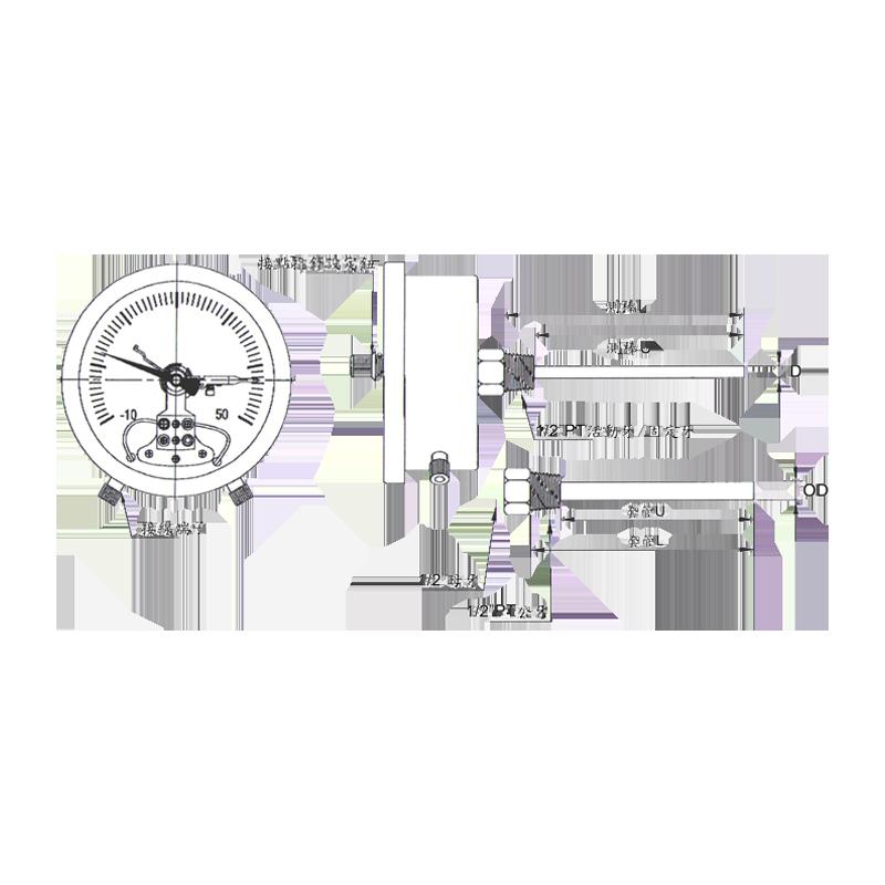 直結式(液體膨脹式)雙金屬溫度計|雙金屬溫度錶│工業用溫度計 - 昌揚科技有限公司