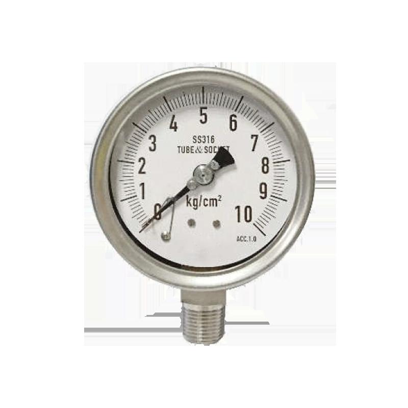 全不銹鋼密閉殼壓力錶