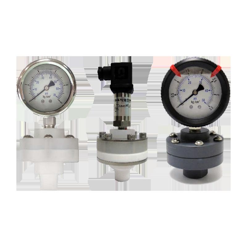 牙口型隔膜式壓力表 耐蝕塑膠材質、工業用壓力錶供應商 - 昌揚科技有限公司