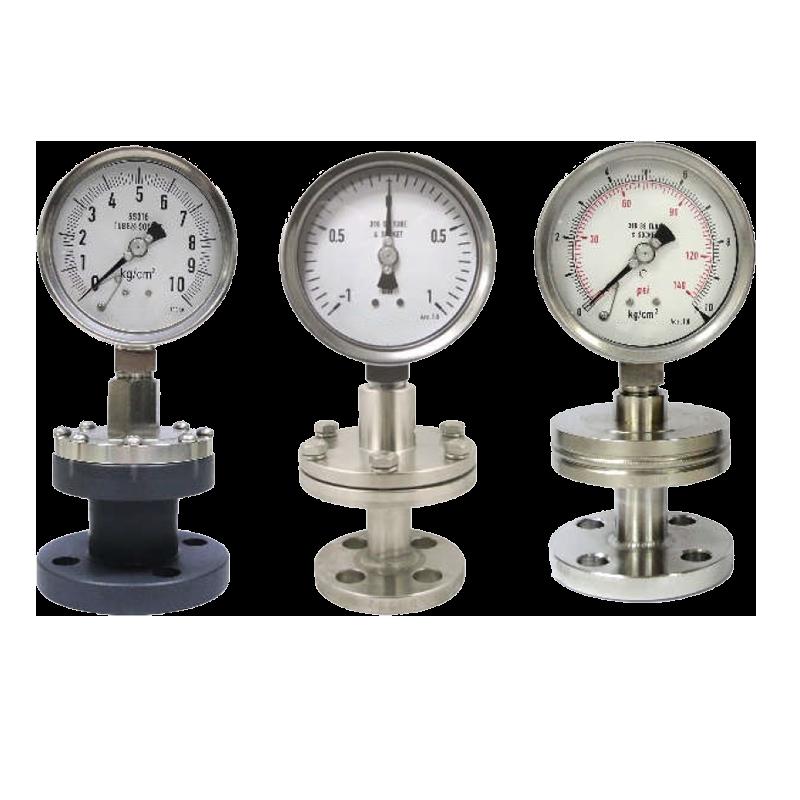 法蘭型隔膜式壓力計|壓力表 雙法蘭型、工業用壓力錶供應商 - 昌揚科技有限公司